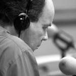 In his natural habitat, a radio studio: 2002