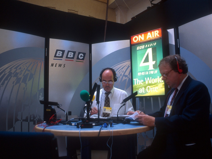 Nick Clarke and John Sergeant in 1995