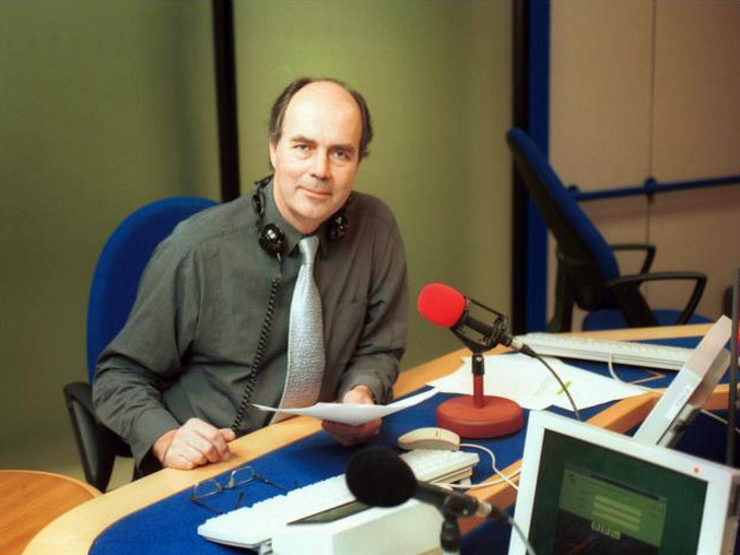 Nick broadcasting from Television Centre: 2001